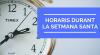horaris durant la setmana santa a Polinyà