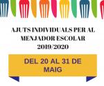 Ajuts menjador escolar 2019/2020