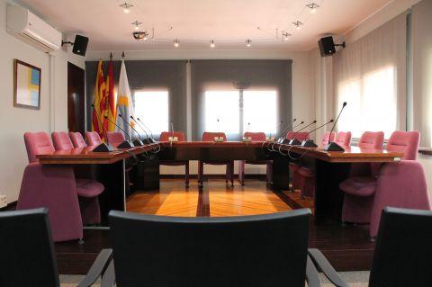 Sala de plens de l'Ajuntament de Polinyà
